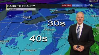 Wet, then cold into Tuesday