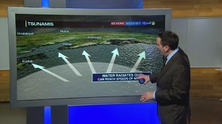 Meteorologist Scott Harbaugh explains tsunami warnings