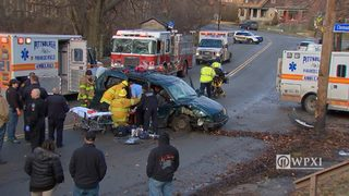 RAW VIDEO: 5 injured in Perrysville crash