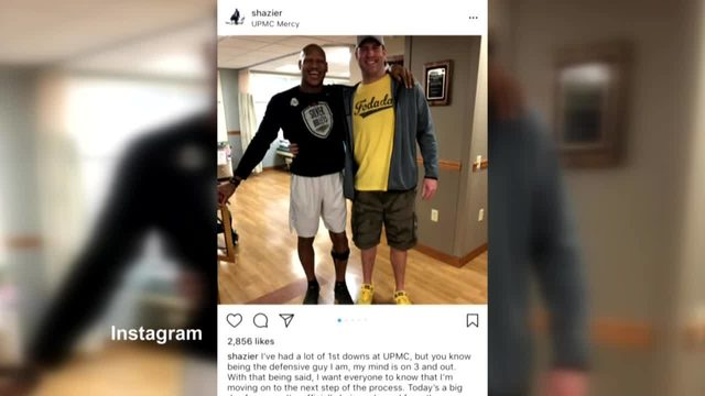 RYAN SHAZIER: Ryan Shazier released from UPMC, shown
