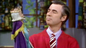 Mister Rogers and King Friday. Photo courtesy of the Fred Rogers Company