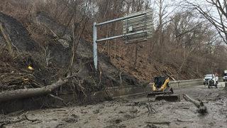 2 more Pittsburgh roads close after landslides