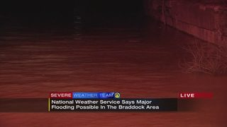 Major flooding possible overnight in Braddock