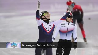Pittsburgh native John-Henry Krueger wins silver medal in speedskating