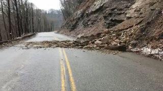 Noblestown Road reopens after rockslide