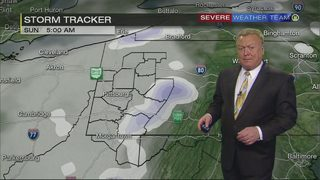 Snow, rain mixture causing flood warnings, slick conditions