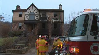 Couple rescued from burning Neville Island home