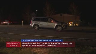 Man hit by SUV in Peters Township