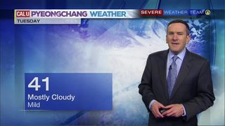 PyeongChang morning forecast (2/19/18)