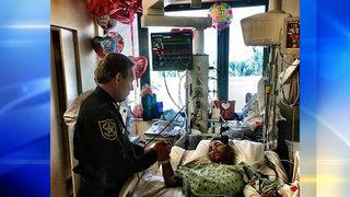 Sheriff visits Parkland school shooting victim in hospital