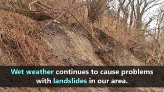 VIDEO: Landslides throughout our area