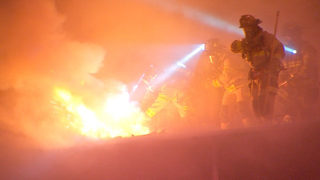 Flames shoot through roof of PennDOT garage near Fort Pitt Tunnel