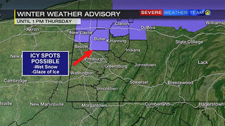 Winter weather advisory for part of area through Thursday afternoon