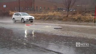RAW VIDEO: Streets Run Road sewers overflowing