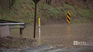 RAW VIDEO: Becks Run Road flooding