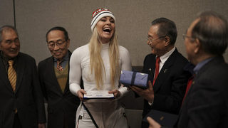 Lindsey Vonn scatters grandfather