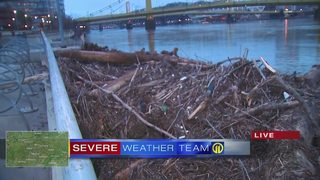 PNC Park littered with debris from river flooding