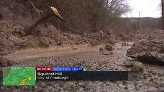 Landslide closes road in Squirrel Hill