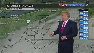 Temperatures dropping, skies clearing (2/25/18)