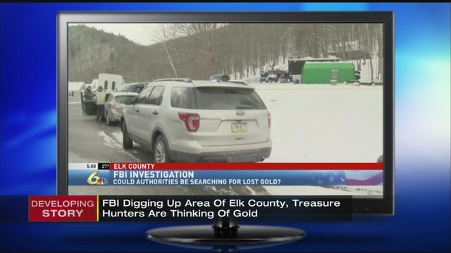 FBI digging where treasure hunters are thinking of gold   WPXI