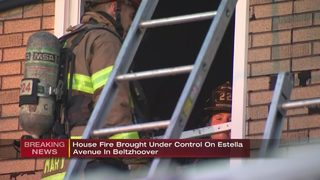 Crews battle house fire in Beltzhoover