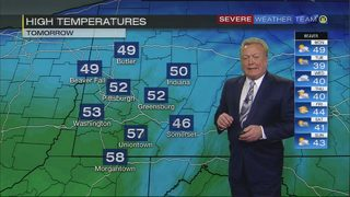 Highs in 50s on Monday (3/18/18)