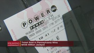 Powerball jackpot-winning ticket sold in Pennsylvania