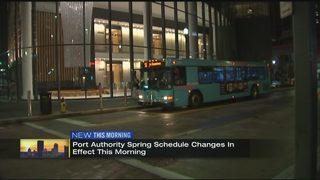 Port Authority adjusts bus schedules