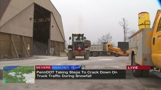 PennDOT taking steps to crack down on truck traffic during snowfall