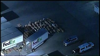 RAW VIDEO: Austin-bound package explodes at FedEx facility