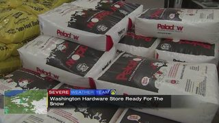 Washington County hardware store ready for snow