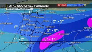 Storm impacts, totals around the Pittsburgh area (3/20/18)