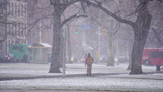 Winter storm brings snow throughout area for start of spring