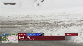 South Hills main roads mostly clear, some side streets remain snow-covered