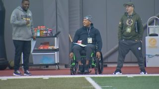 RAW VIDEO: Ryan Shazier attends Pitt Pro Day