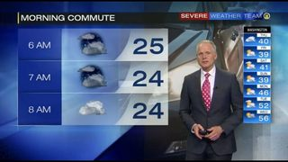 Icy spots possible for Thursday morning commute