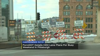 PennDOT to open HOV lanes for busy weekend in Pittsburgh