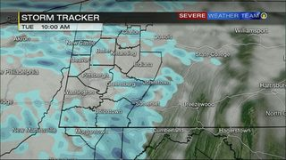 STORM TRACKER: Hour by hour look at snow, rain moving in