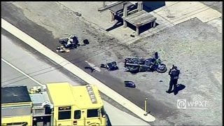 At least 1 injured in motorcycle crash on Route 422