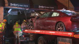 8 injured when vehicle smashes into Brentwood hair salon