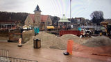 Construction in Ligonier's Diamond area.