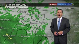 Rain throughout day Tuesday (4/24/18)