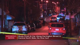 Police search for gunman who fired dozens of shots, shot out car window
