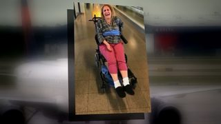 VIDEO: Woman says delta tied her to a wheelchair