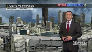 Pirates forecast for late this afternoon (4/25/18)