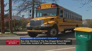 School bus aide fired for 'inappropriate touching
