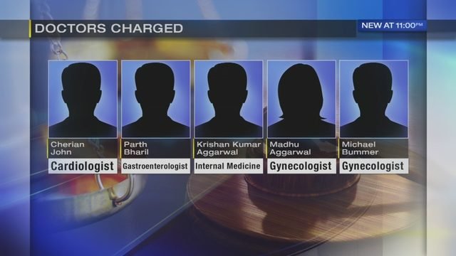 5 local doctors charged with illegally giving out controlled