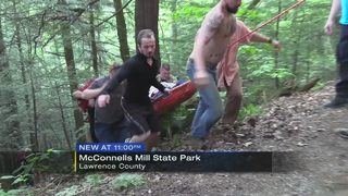 Woman hospitalized after fall, rescue at state park