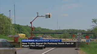 New traffic signal on Parkway North part of bigger pilot project