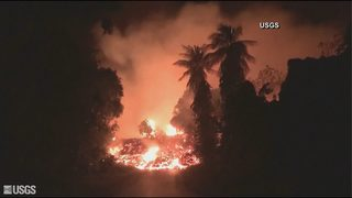 Lava from Kilauea volcano enters ocean, creates toxic cloud